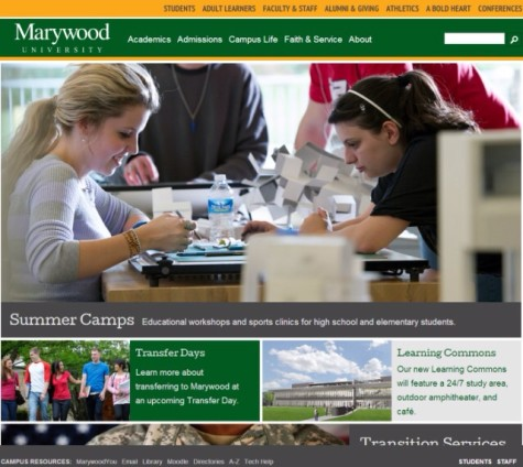 Marywood website gets facelift
