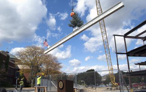 """""""Topping Off"""" ceremony celebrates future of Learning Commons"""