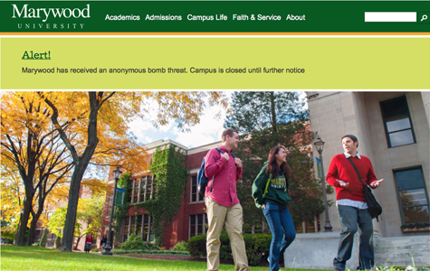 Early morning anonymous bomb threat causes evacuation of Marywood's campus