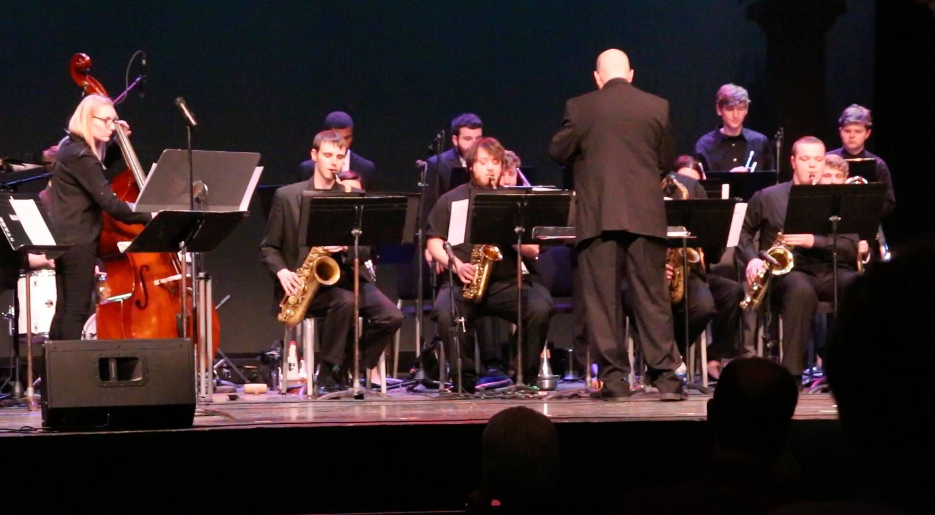 David Jumper conducts the Jazz Ambassadors.