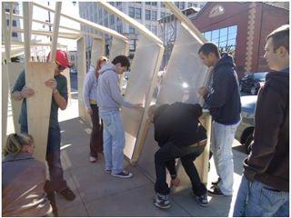 Architecture students show off pavilions