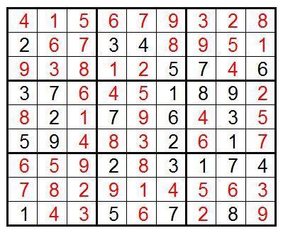 sudokuanswers