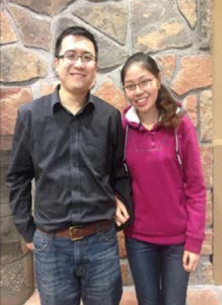 Lujing and Yuan happily pose at Marywood University.