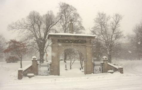Snow blankets Marywood campus