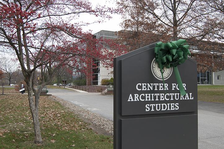 Green+bows+decorate+the+buildings+that+represent+Marywood+alumni%2C+family%2C+and+friends+whose+generous+donations+made+each+facility+possible.