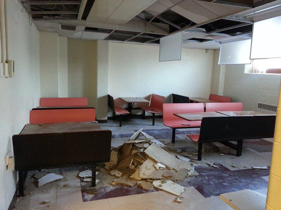 The snack room in The Sette LaVerghetta Center for Performing Arts (PAC) took the brunt of the damage from the heating unit that broke on Friday, Feb. 20.