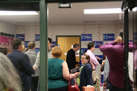 Over 100 people made their way through the packed Scranton office of the Hillary campaign on Saturday.