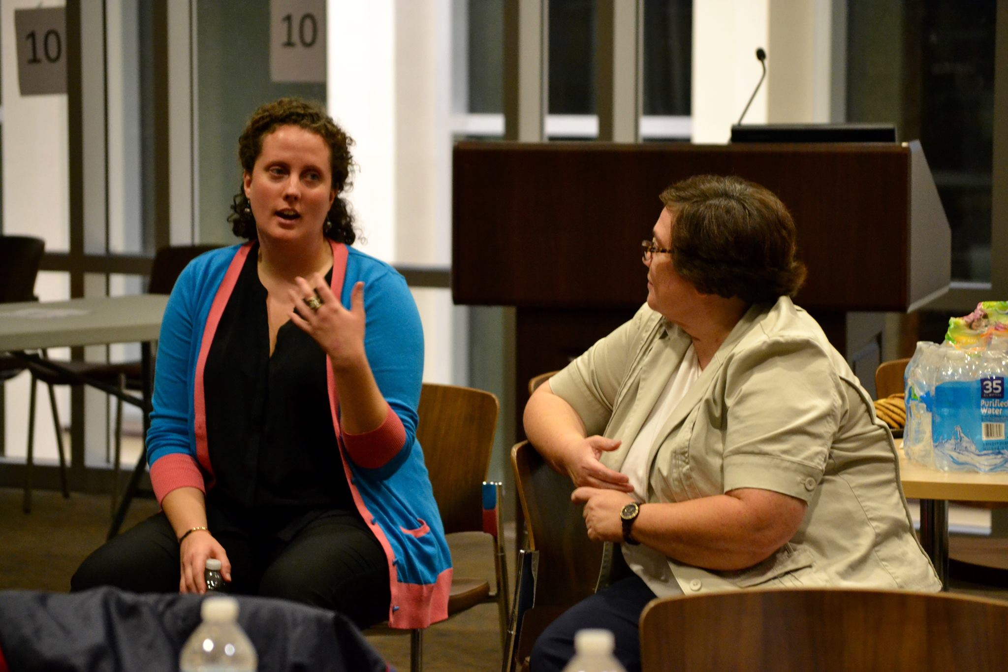 Arranger Kimberly Witt and Patricia Weldon discussed issues of diversity and discrimination.
