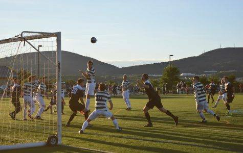 Men's soccer couldn't fend off the defending champs