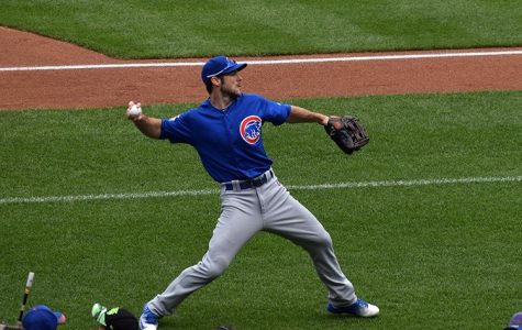 Cubs outfielder Matt Szczur practices before their game against the New York Mets at Citi Field on July 3.