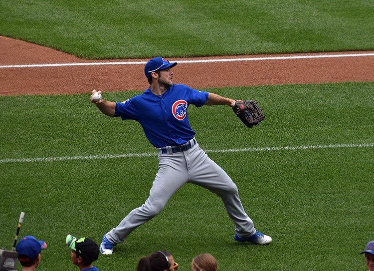 Cubs+outfielder+Matt+Szczur+practices+before+their+game+against+the+New+York+Mets+at+Citi+Field+on+July+3.