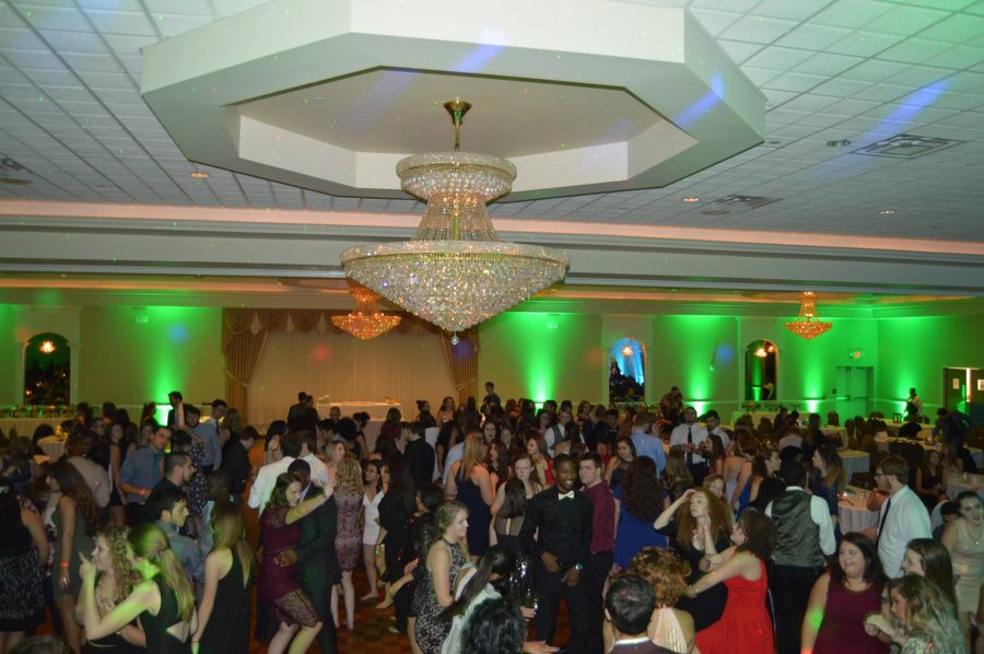 Students gathered on the dance floor.