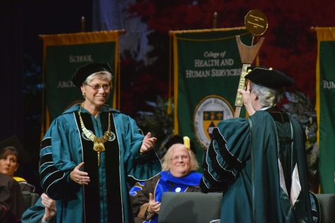Sr. Mary's Inauguration Day takes a global approach