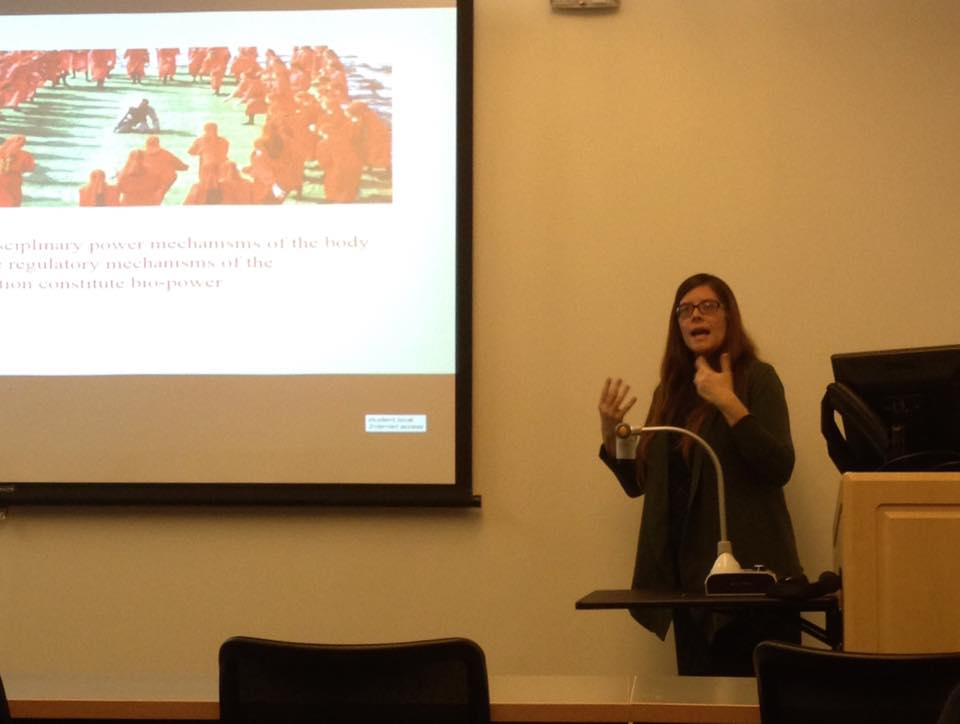 Dr. Samantha Christiansen lectures on