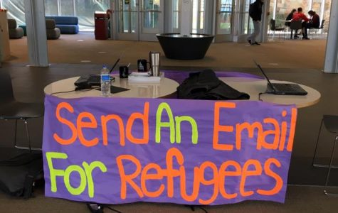 Students engage in letter writing campaign for refugees' rights