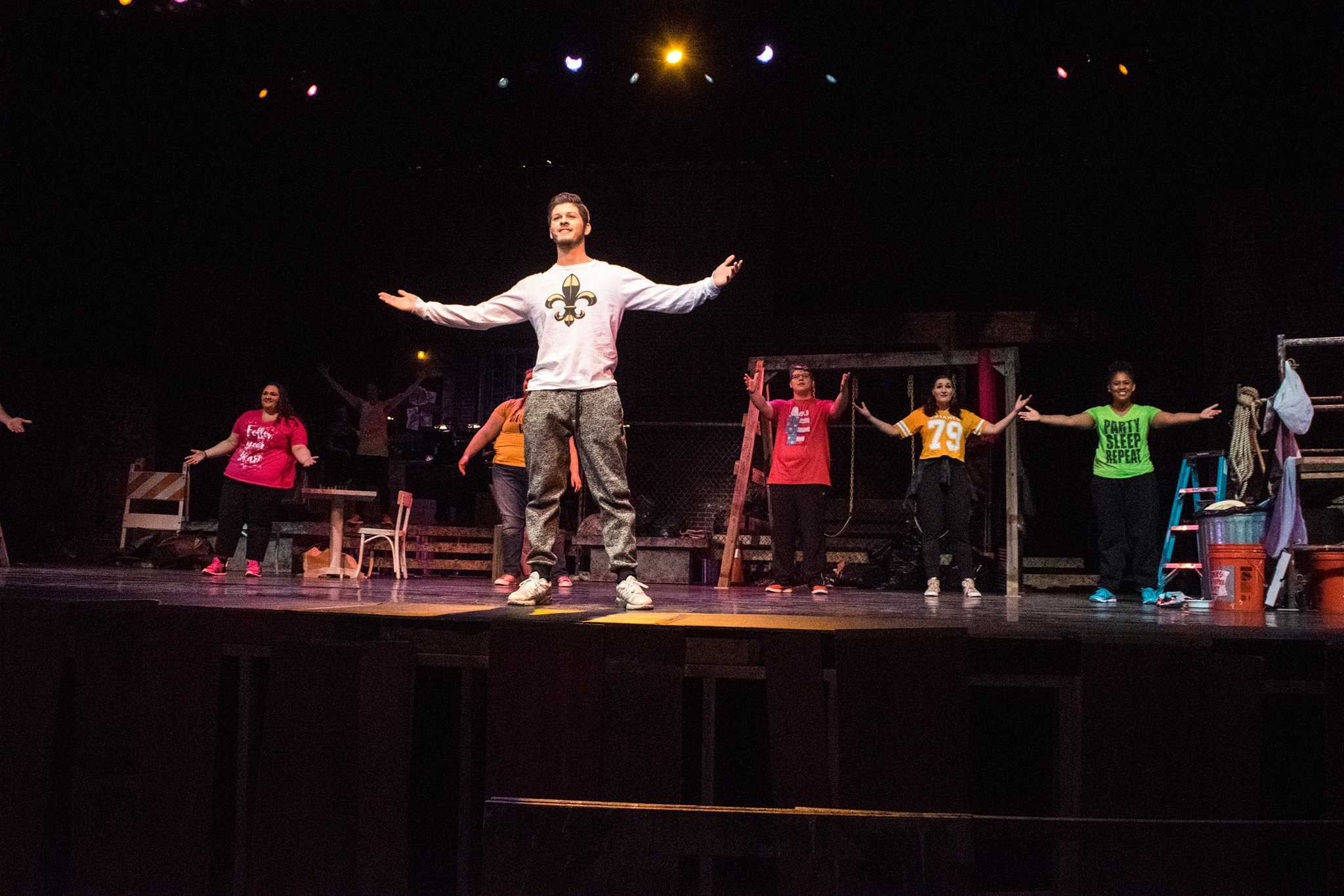 The roles in Godspell were Jesus Christ, John the Baptist and the disciples of Jesus.