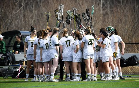 Women's lacrosse beats Neumann University for the first time since 2012. Photo courtesy of Marywood Athletics.