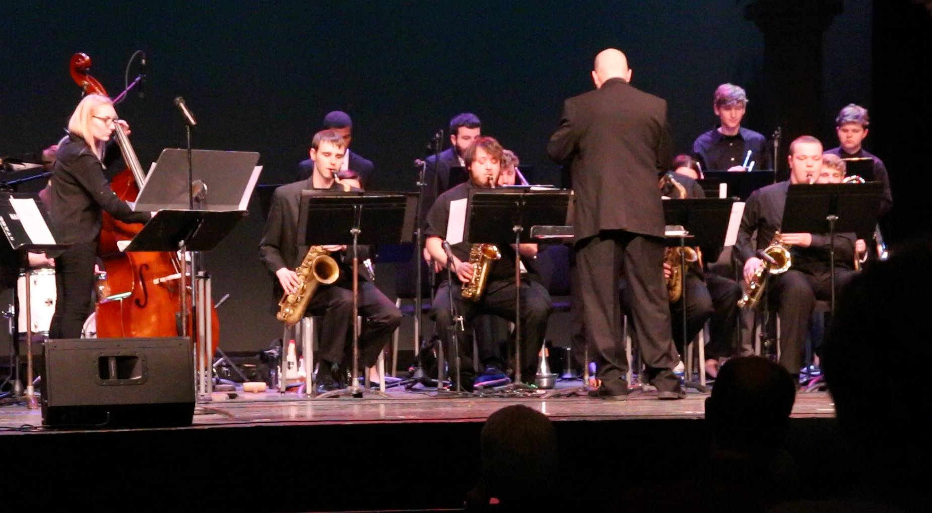 David Jumper conducts the Jazz Ambassadors.
