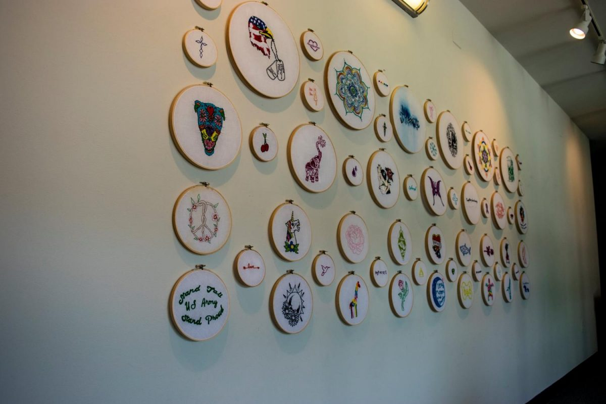 Brzenk's embroidery designs cover a variety of subjects.