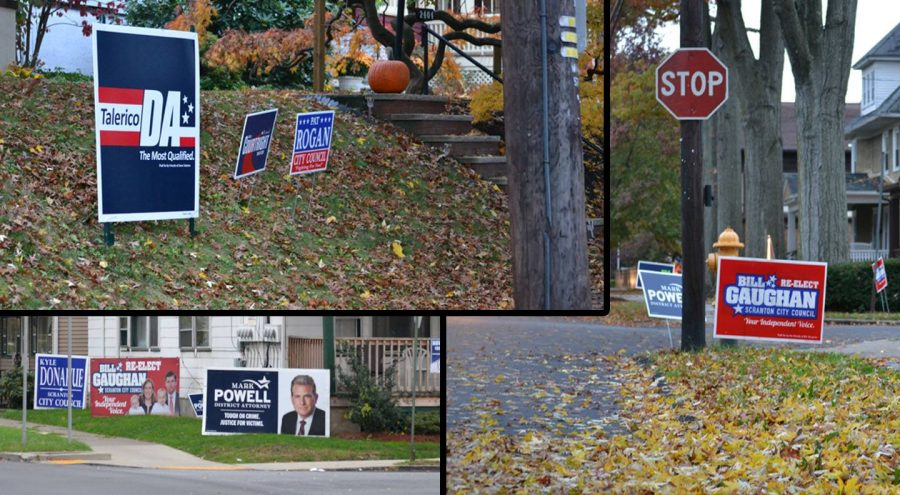 Scranton+residents+show+their+support+for+local+candidates+with+yard+signs.