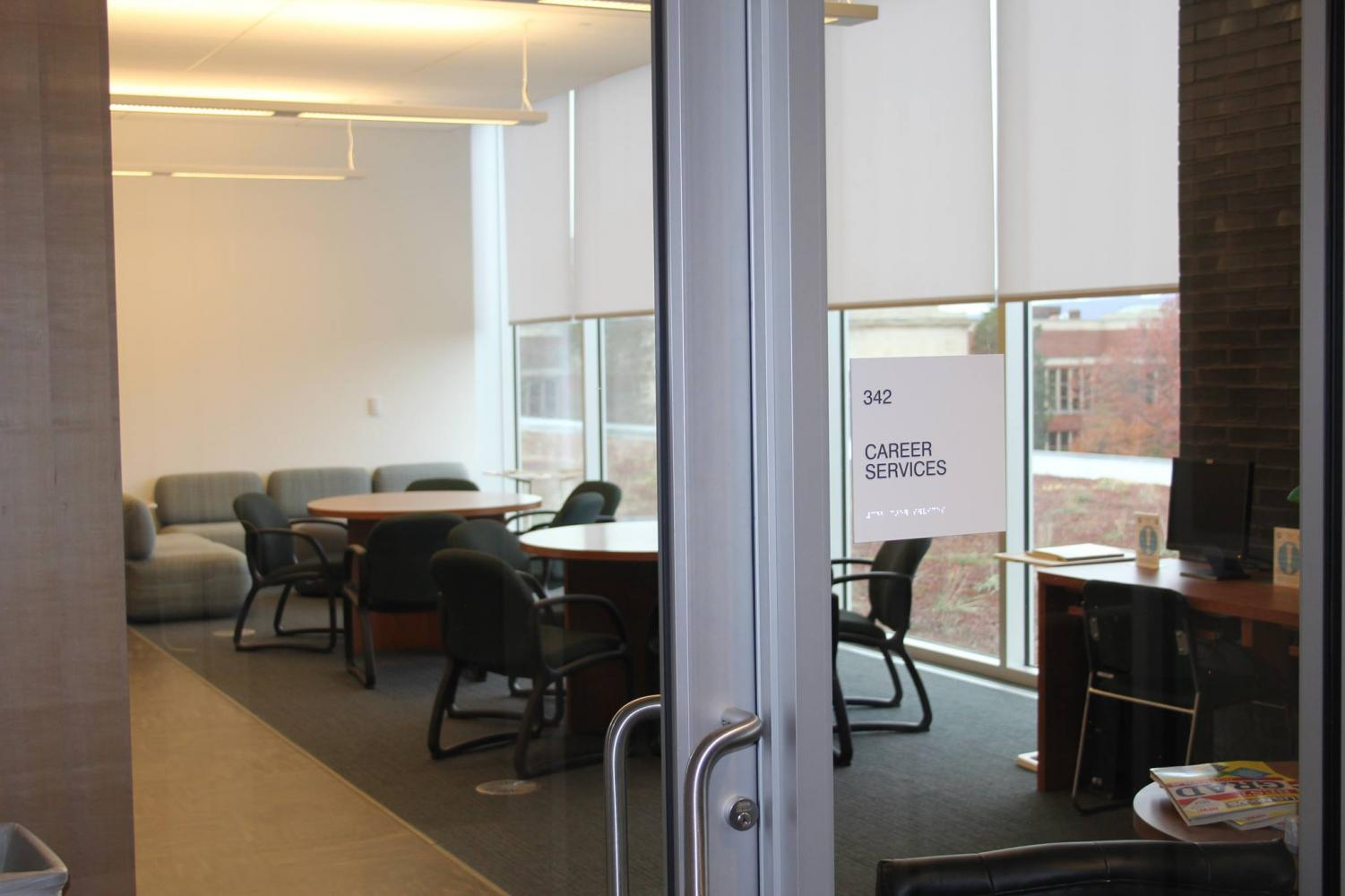 The new Career Services department is located in room 342 of the Learning Commons.
