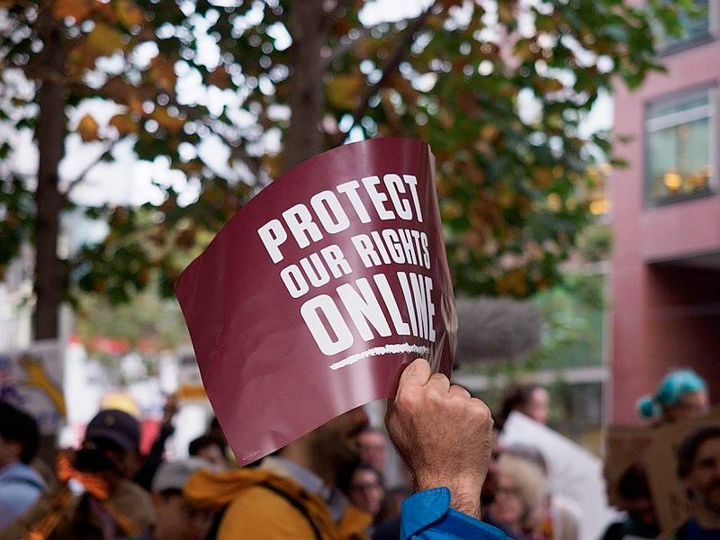 Protect Net Neutrality rally, San Francisco. Sept. 12, 2017. Credit Credo Action, Creative Commons Attribution 2.0 Generic