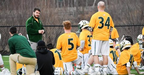 Head coach Tyler Perrelle addresses his team last season.