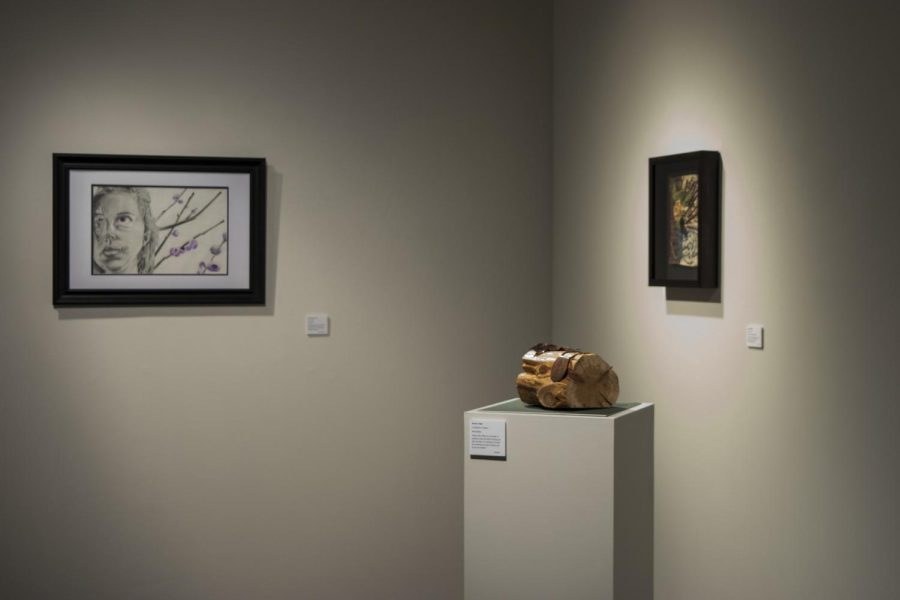 Art+Therapy+students+display+their+work+in+the+Suraci+Gallery+to+demonstrate+how+art+can+help+those+suffering.+Photo+credit%3A+Bethany+Wade