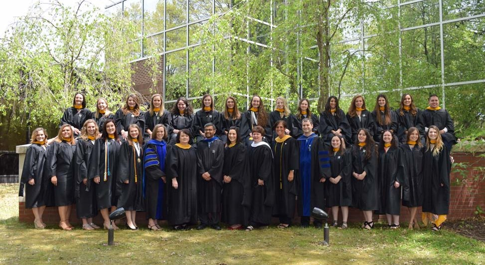 The 2018 graduating class from the Master of Science program in speech-language pathology. Photo courtesy of Andrea Novak.