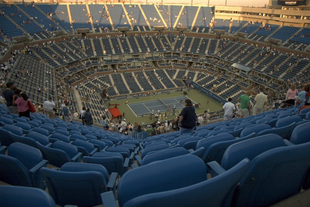 The view from high inside Arthur Ashe Stadium. Image credit: TigerPuppala, via Wikimedia Commons
