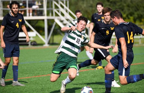 Sophomore forward Zac Lloyd is proving to be an offensive force for the Pacers. Photo courtesy of Marywood Athletics