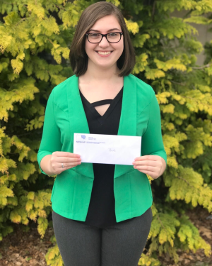 Nicole Coombs is the 22nd student to receive the scholarship. Photo credit: Marywood Marketing and Communications