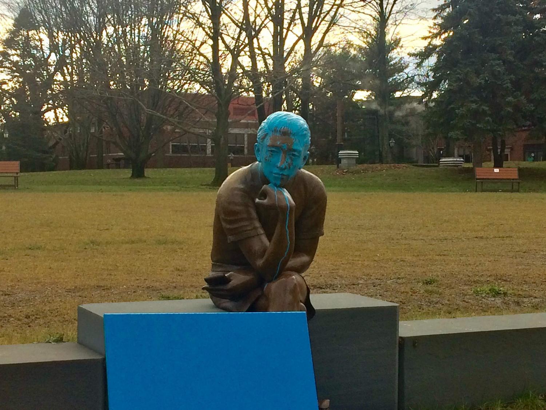 The vandalism was reported on Saturday. Photo credit: Briana Ryan
