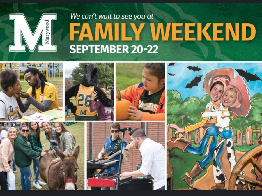 Marywood University encourages all students to invite their families to campus to experience a plethora of different events at Family Weekend.  Image courtesy of Marywood University Student Activities and Leadership Development
