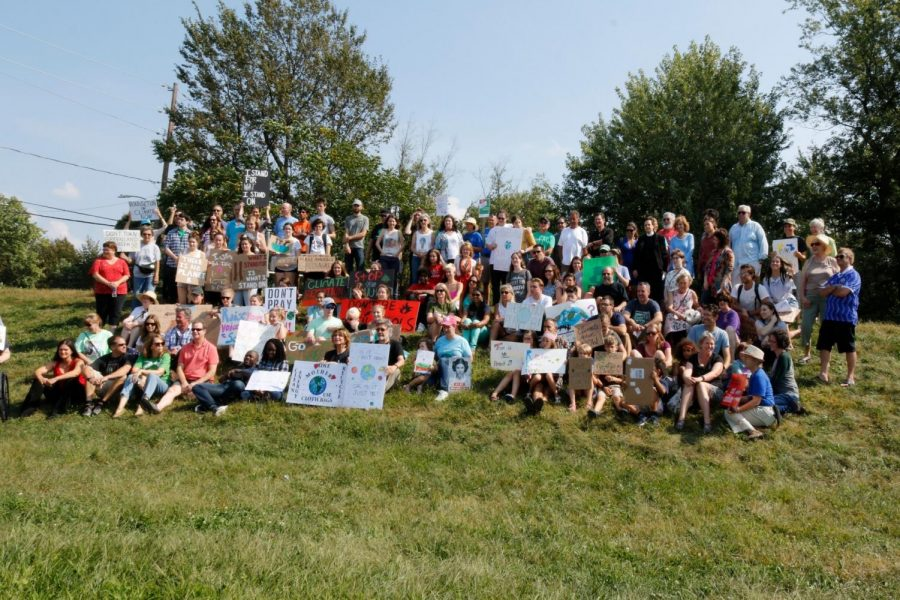 The group that participated in the climate strike in Scranton. Image credit: Rebecca Walters