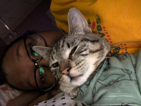 Thiccy looking sleepy with Rivera Photo courtesy of Brianna Rivera