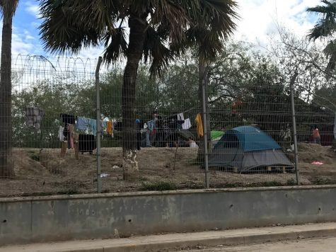 An outer part of the tent city