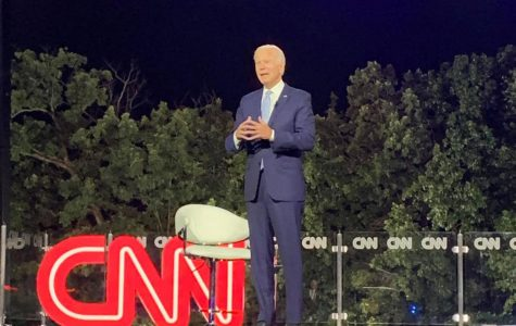 Presidential candidate and former Vice President Joe Biden at PNC Field during CNN's first ever drive-in town hall.