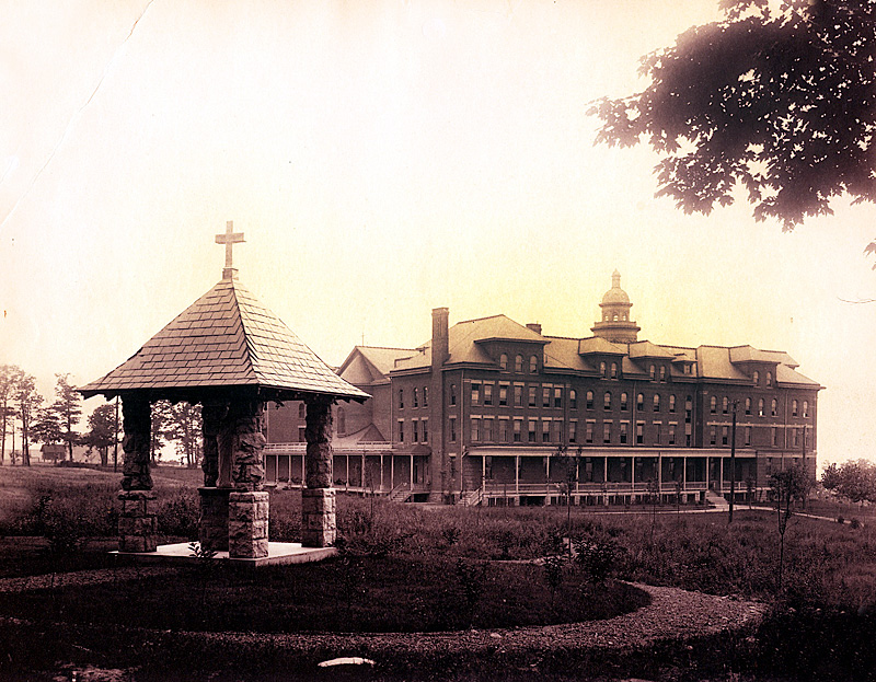 Before the fire, the Motherhouse and Seminary was a four-story building that included a chapel, novitiate classrooms, dining rooms, dorms and faculty housing.