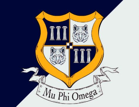 Marywood fraternity members created their own crest for the newly founded fraternity, Mu Phi Omega. The new organization was formed this summer after Marywood fraternity members decided to break from the national fraternity Phi Mu Delta.