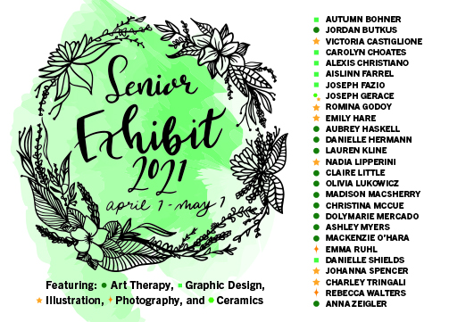 This year the Art Departments Senior Art Exhibit will feature the work of 27 graduating seniors.