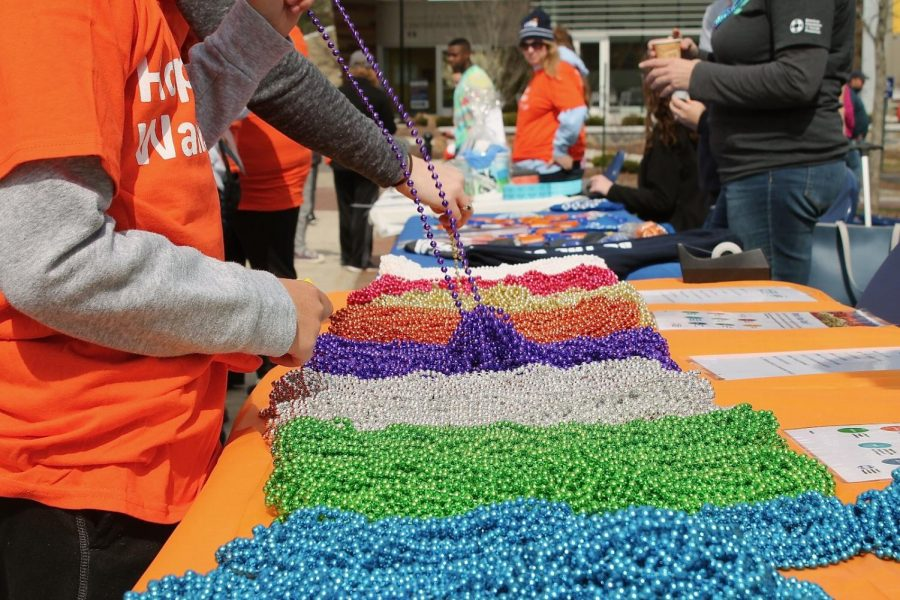 Beads of different colors will be given out at the Out of the Darkness Walk at Nay Aug Park this Sunday. Each color signifies the participant's specific connection to the cause of suicide prevention.