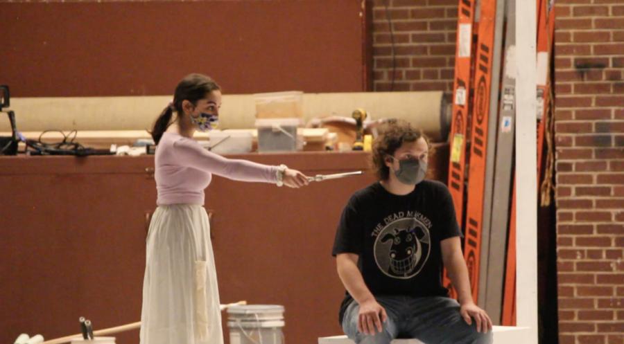 Angela Klawitter and Sean Wolfe during an intense scene.